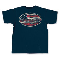 Old Guys Rule Born in the USA Men's Navy T-Shirt