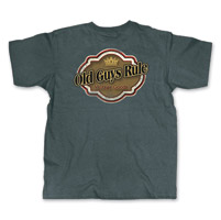 Old Guys Rule Vintage Tag Men's Dark Heather T-Shirt
