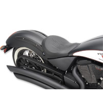 Drag Specialties Flame Stitch Low-Profile Solo Seat