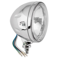 BikeMaster 5-3/4″ Chrome Bottom Mount Angel Halo Headlight