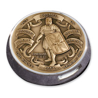 Motordog69 Victory Universal Coin Mount with Armor of God Brass Coin