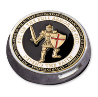 Motordog69 Victory Universal Coin Mount with Armor of God Coin
