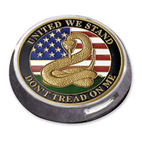 MotorDog69 Victory Universal Coin Mount with Don't Tread On Me Coin