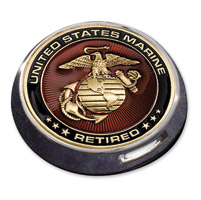 MotorDog69 Victory Universal Coin Mount with Retired Marine Coin