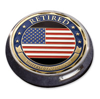 Motordog69 Victory Universal Coin Mount with Retired Navy Coin