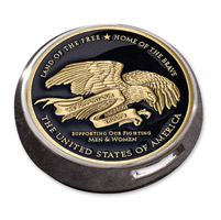 MotorDog69 Victory Universal Coin Mount with Thank You to the Troops Coin