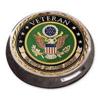 Motordog69 Victory Universal Coin Mount with Veteran Army Coin