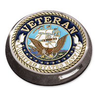 Motordog69 Victory Universal Coin Mount with Veteran Navy Coin