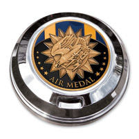 Motordog69 Gold Wing Fuel Door Coin Mount with Air Medal Coin
