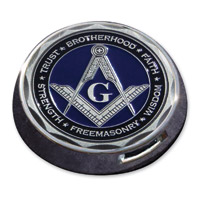 Motordog69 Gold Wing Fuel Door Coin Mount with Masonic Coin