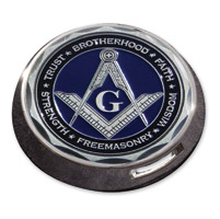 Motordog69 Gold Wing Fuel Door Coin Mount with MD Masonic Coin