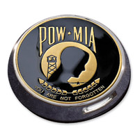 Motordog69 Gold Wing Fuel Door Coin Mount with POW MIA Coin