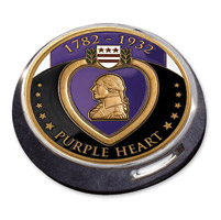 Motordog69 Gold Wing Fuel Door Coin Mount with Purple Heart Coin