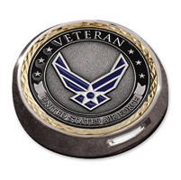 Motordog69 Gold Wing Fuel Door Coin Mount with Veteran Air Force Coin