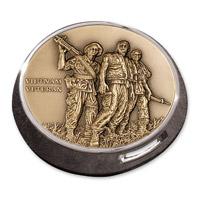 MotorDog69 Gold Wing Fuel Door Coin Mount with Vietnam Veteran Engravable Coin