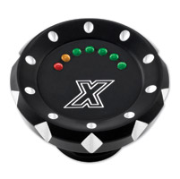 Xtreme Machine Contrast Cut V-Cut LED Fuel Gauge
