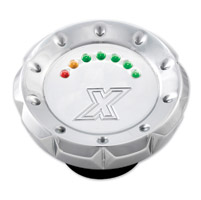 Xtreme Machine Chrome V-Cut LED Fuel Gauge