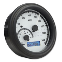 Dakota Digital White/Gray MVX-2002 Series Analog Gauge System with Black Bezel
