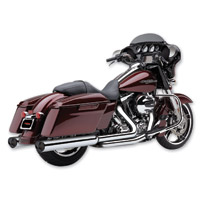 Cobra Tri-Flo Chrome Slip-On Mufflers with Black Tips