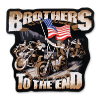 Hot Leathers Brothers to the End Patch 11