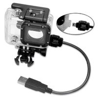 3BR Powersports X~PWR All-weather, External Power camera case and cable for Hero3, Hero3+ and Hero4 cameras