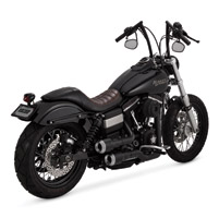 Vance & Hines 2 into 2 Hi Output Grenades Black, Pearl Nickel End Caps