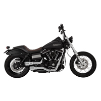 Vance & Hines 2 into 2 Hi Output Grenades Chrome, Black End Caps