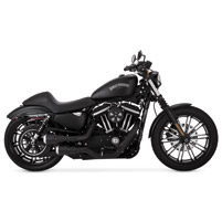 Vance & Hines 2-into-2 Black Hi-Output Grenades Exhaust with Pearl Nickel End Caps