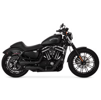 Vance & Hines 2 into 2 Hi Output Grenades Black, Black End Caps