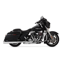 Vance & Hines OverSized 450 Destroyer Exhaust Slip Ons Chrome, Chrome End Caps