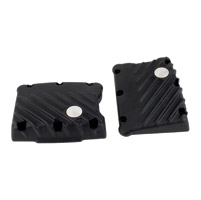 EMD Black Ribbed Rocker Covers