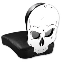 Resurrection Chopper Gear Skull ABC Backrest with Pillion