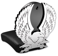 Resurrection Chopper Gear Eagle ABC Backrest with Pillion