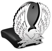 Resurrection Chopper Gear Eagle ABC Backrest with Pillion