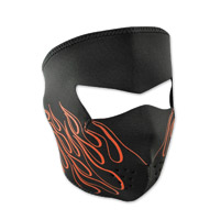 ZAN headgear Neoprene Orange Flames Face Mask