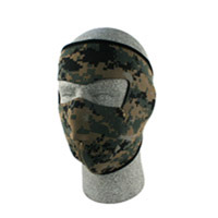 ZAN headgear Neoprene Digital Green Camouflage Face Mask