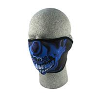 ZAN headgear Neoprene Blue Chrome Half Mask