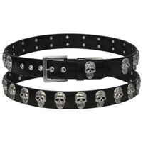 Skull Stud Leather Belt