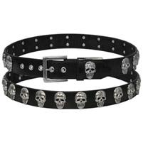 Skull Stud Leather Belt