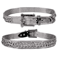 Silver Mesh with Double Chain Belt