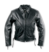 Interstate Leather Women's Xena Braided Black Leather Jacket