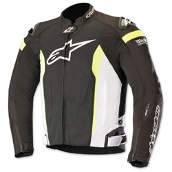 Alpinestars Men's T-Missile Air Black/White/Yellow Textile Jacket
