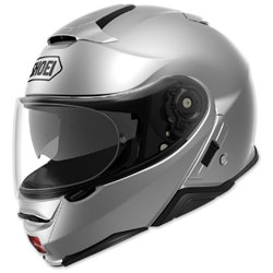 Shoei Neotec II Light Silver Modular Helmet -  77-11901