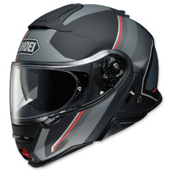 Shoei Neotec II Excursion Matte Black/Gray Modular Helmet -  77-11951