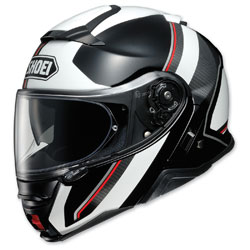 Shoei Neotec II Excursion Black/White Modular Helmet -  77-11961