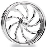 Performance Machine Torque Chrome Front Wheel, 19″ x 2.15″
