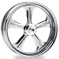 Performance Machine Wrath Chrome Wide Rear Wheel, 18″ x 10.5″