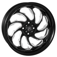 Performance Machine 15 X 5.5 Trike Wheel Torque Style Left Platinum Finish