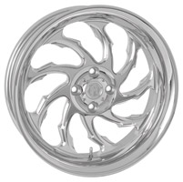 Performance Machine 15 X 5.5 Trike Wheel Torque Style Left Chrome Finish