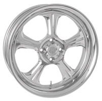 Performance Machine 15 X 5.5 Trike Wheel Wrath Style Chrome Finish
